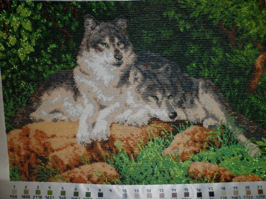 Вышивки крестом волк волки 187