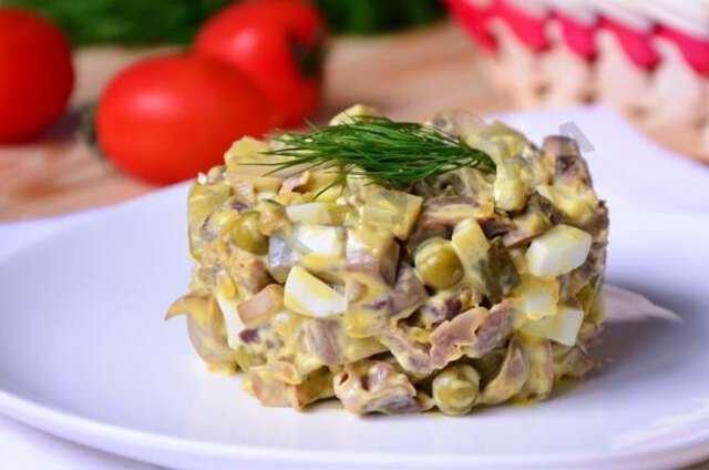 Салат с говядиной Новогодняя радость