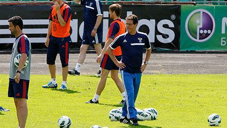 Сборная России начала подготовку к матчу с португальцами