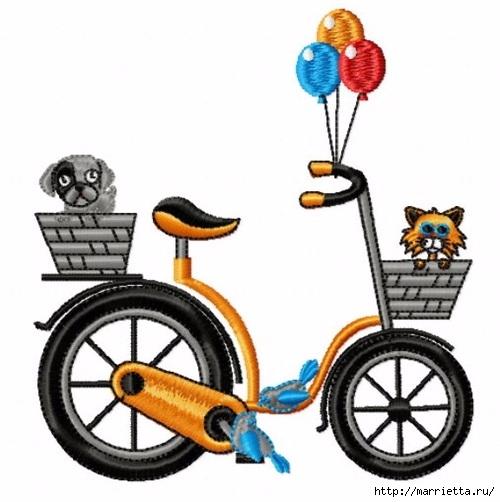 Вышиваем велосипед. Идеи со схемами (55) (500x502, 131Kb)