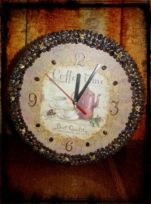 Часы в кофейном стиле своими руками 49