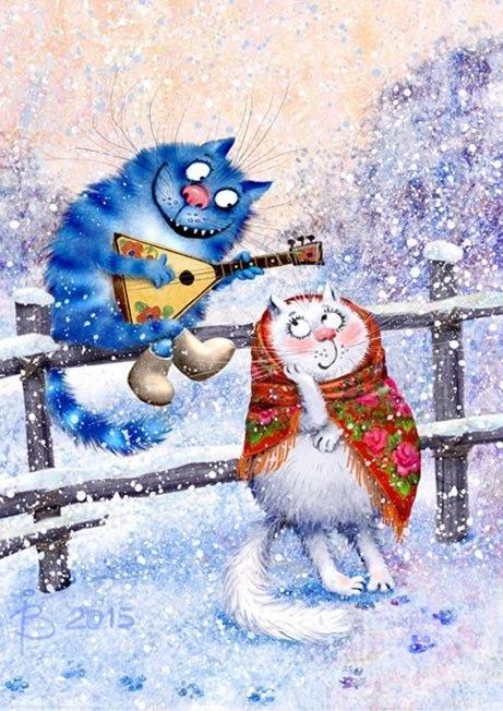 Синие коты счастья — веселое, доброе и пушистое творчество Ирины Зенюк
