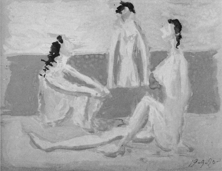 Пабло Пикассо. Три купальщицы I. 1920 год