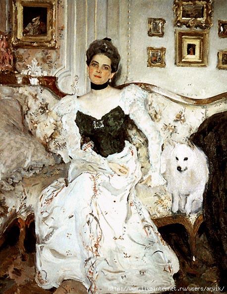 З.Н. Юсупова, портрет работы В. Серова (458x593, 218Kb)
