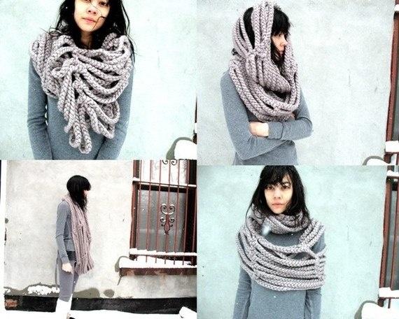 Сделать модный шарф своими руками