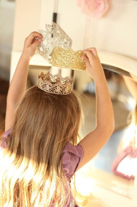 Как сделать милую корону принцессы для утренника или фотосессии