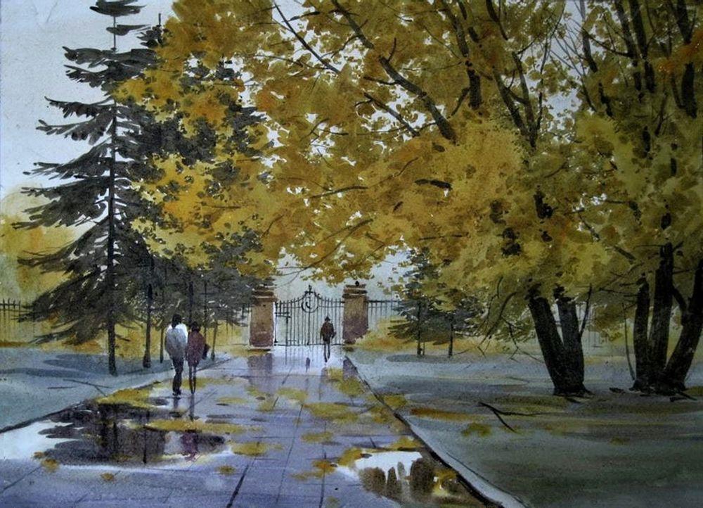 Акварельные пейзажи художника Ильи Горгоца, фото № 50