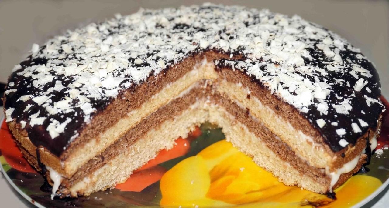 Торт из заварного крема - рецепт из детства!