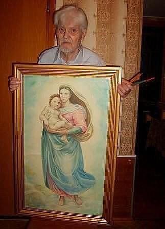 Этому дедушке 87 лет. А это он нарисовал карандашами!