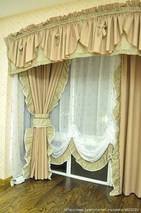 Пошив штор своими руками на большие окна