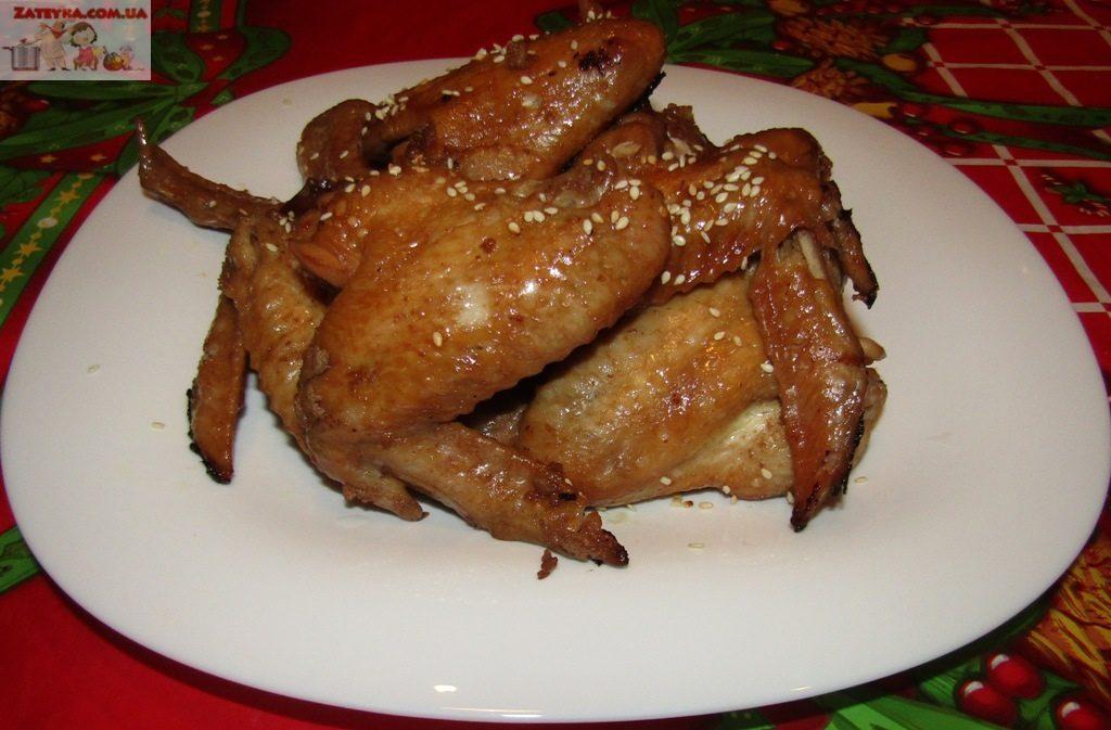 Куриные крылышки, маринованн…