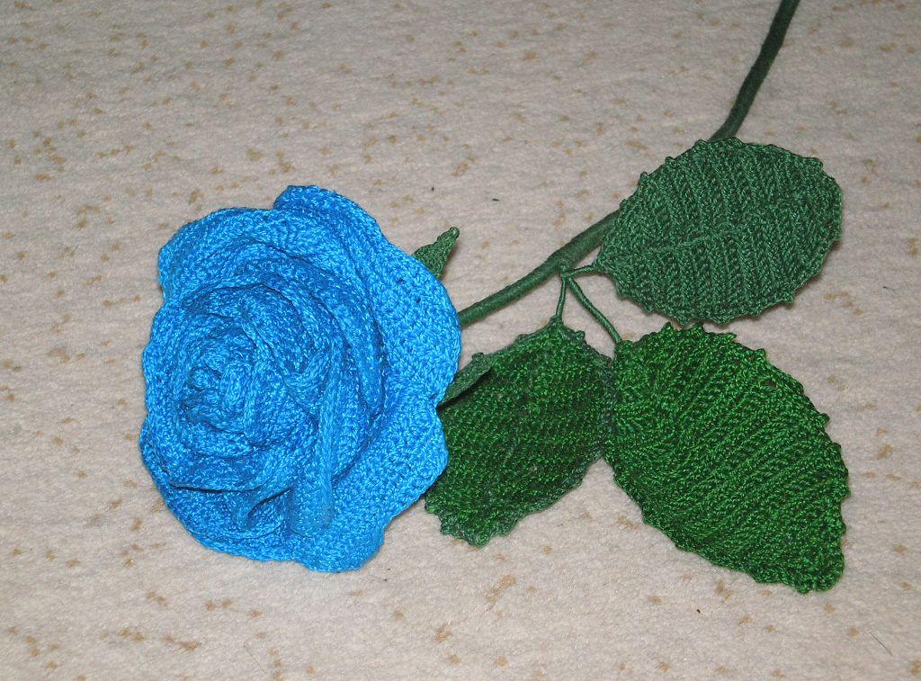 Вязание крючком цветы из пряжи 740