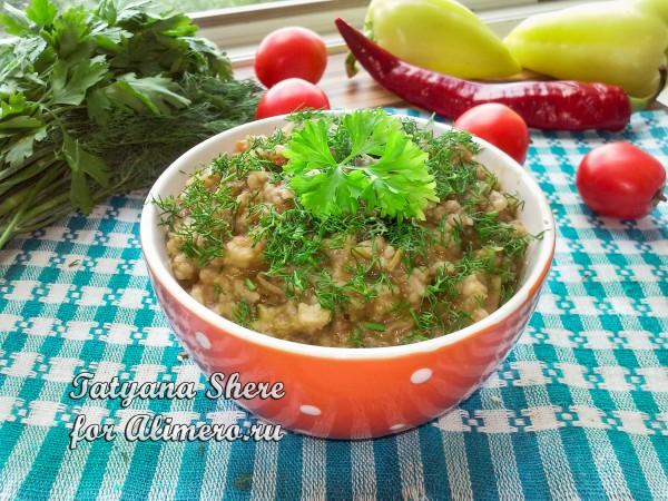 Рис с баклажанами рецепт с фото