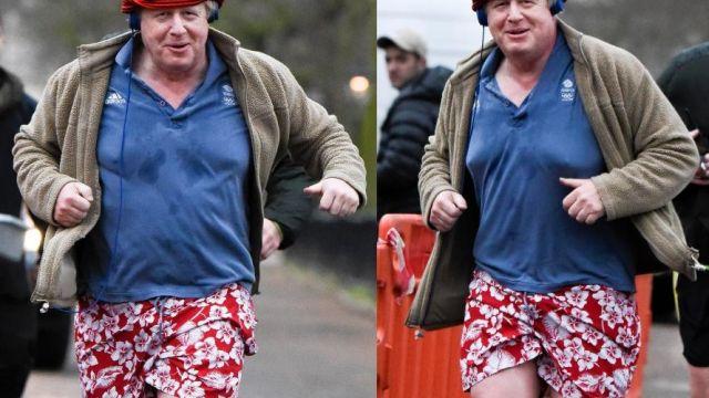Пестрые трусы британского МИД: Бориса Джонсона сфотографировали на утренней пробежке