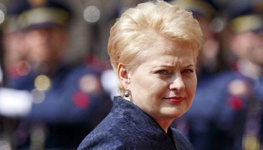Грибаускайте: Литва предложит новые санкции вотношении России