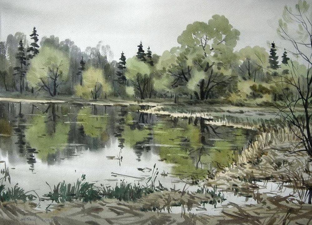 Акварельные пейзажи художника Ильи Горгоца, фото № 10