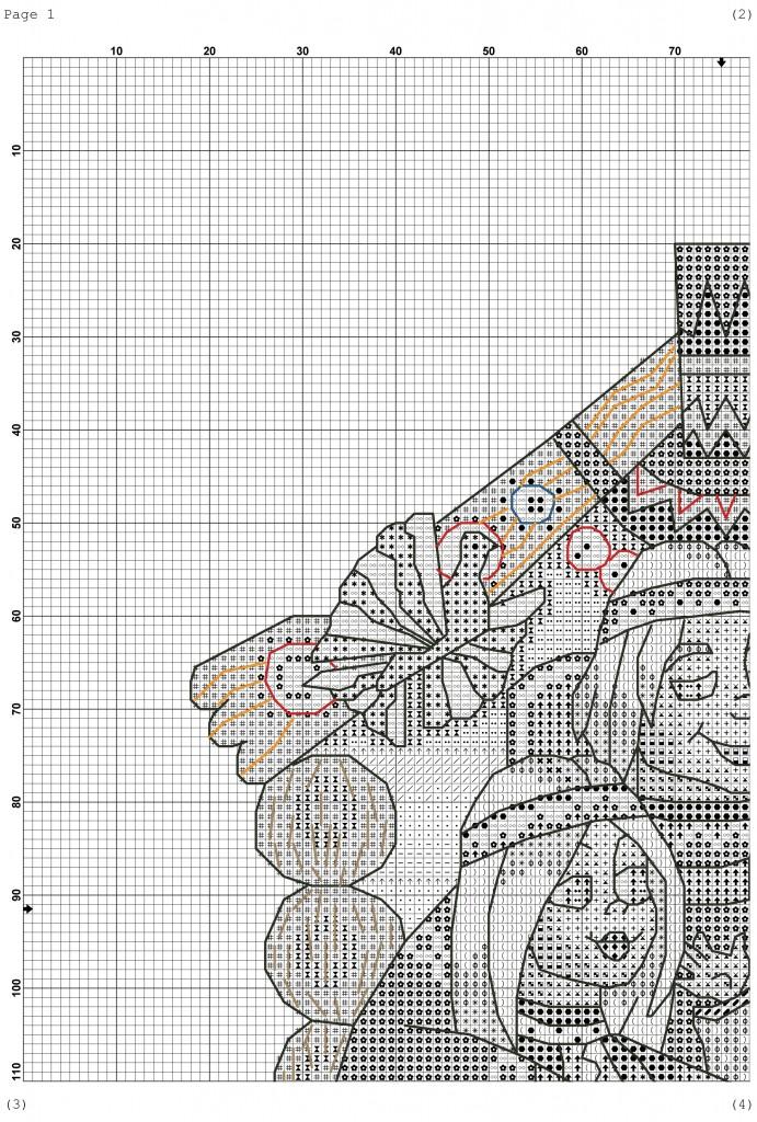 Схема вышивка семейного оберега 217