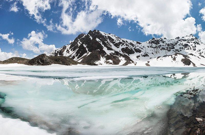 Озеро Сылтранкель в Приэльбрусье зима, красота, природа, россия, фото