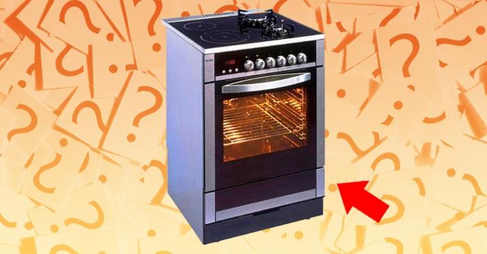 Для чего предназначен нижний ящик кухонной плиты?
