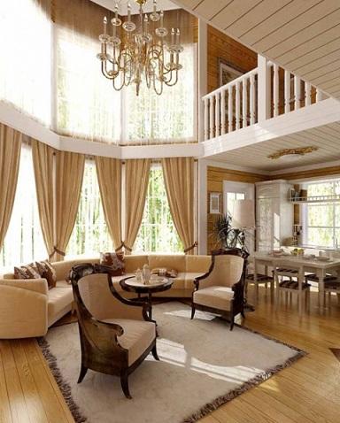 Второй свет в деревянном доме.