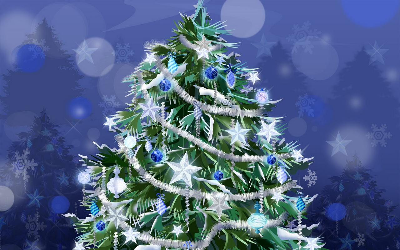 Новогодняя елка обои