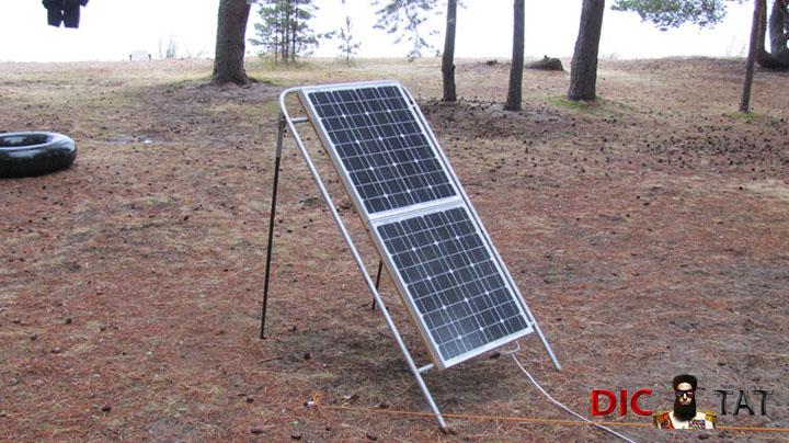 Переносная солнечная электро…