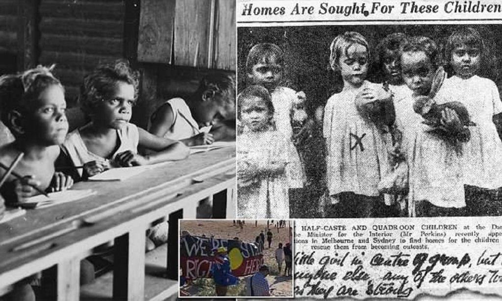 Аборигены Австралии протесту…