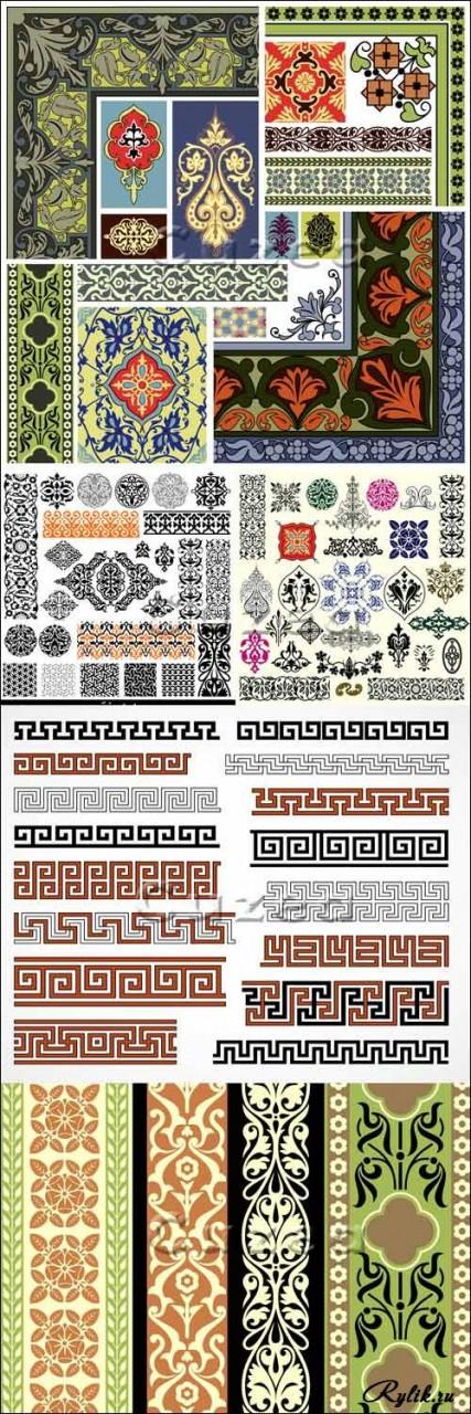 Арабские и персидские узоры, орнаменты - векторные элементы