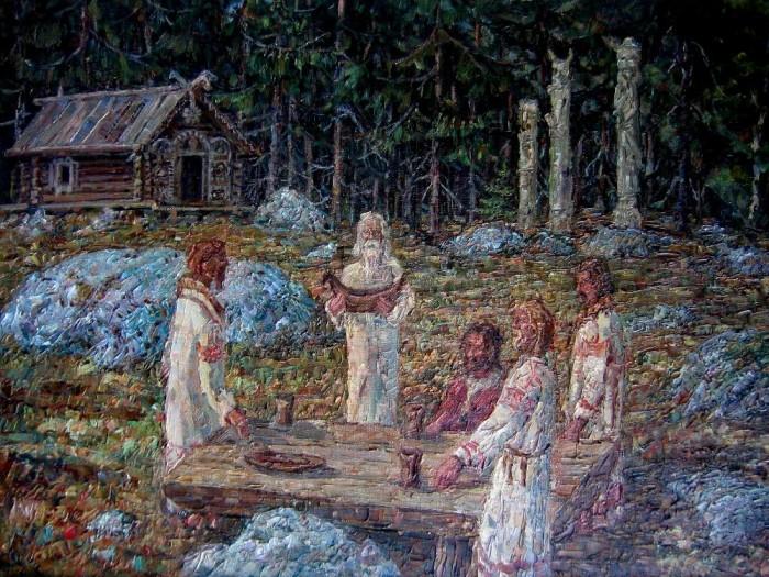 Художник-славянист Н. Н. Сперанский (волхв Велимир) картины