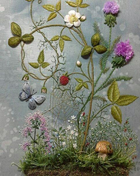 Вышитая ботаника Андреевой Розы