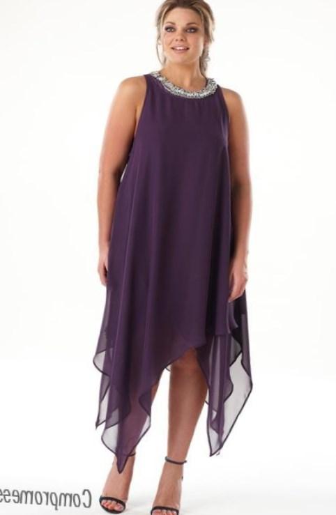 щифоновое платье для толстушек