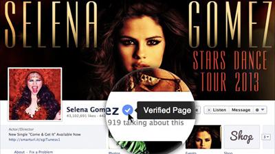 Facebook проверит на подлинность странички знаменитостей, политиков и брендов