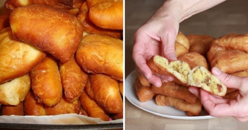 Творожные пирожки с картошкой