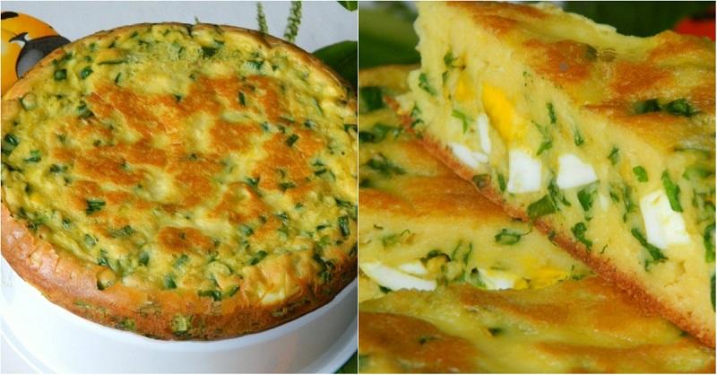 Быстрый пирог с яйцами и лук…