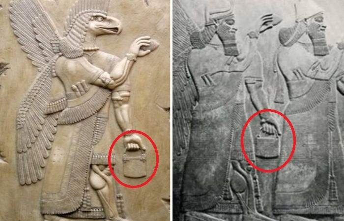 Загадочную сумку нашли на множестве древних скульптур.