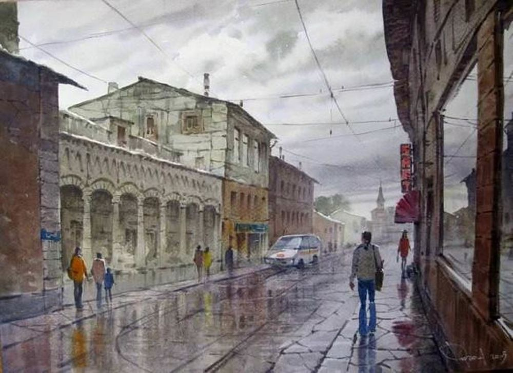 Акварельные пейзажи художника Ильи Горгоца, фото № 24