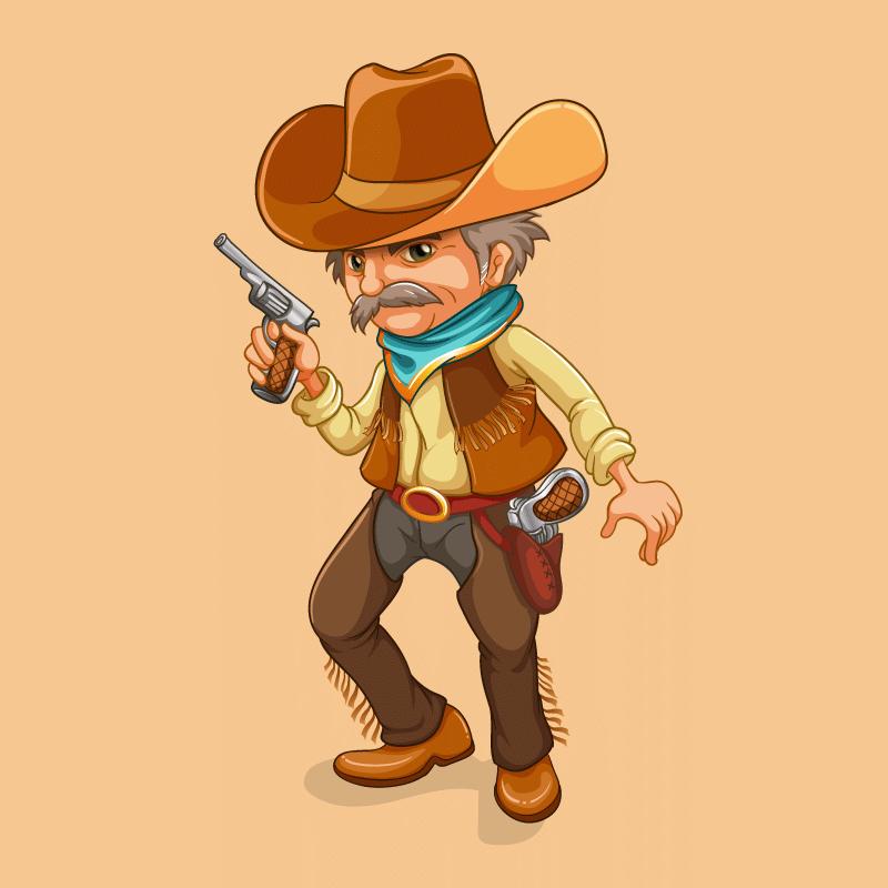 Анекдот про старого ковбоя, подстрелившего незнакомого паренька