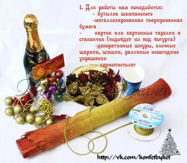 Мастер класс по новогоднему шампанскому