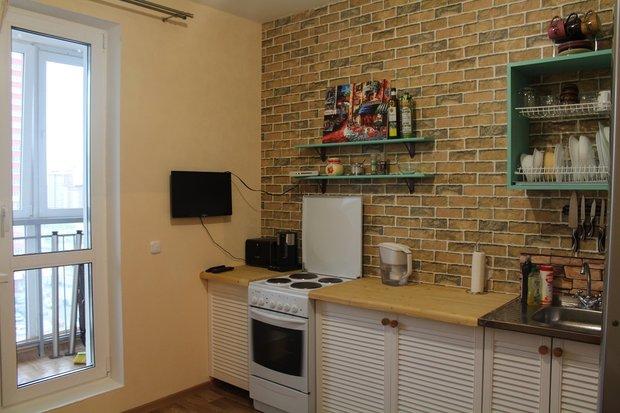 Оригинальная кухня в съемной квартире