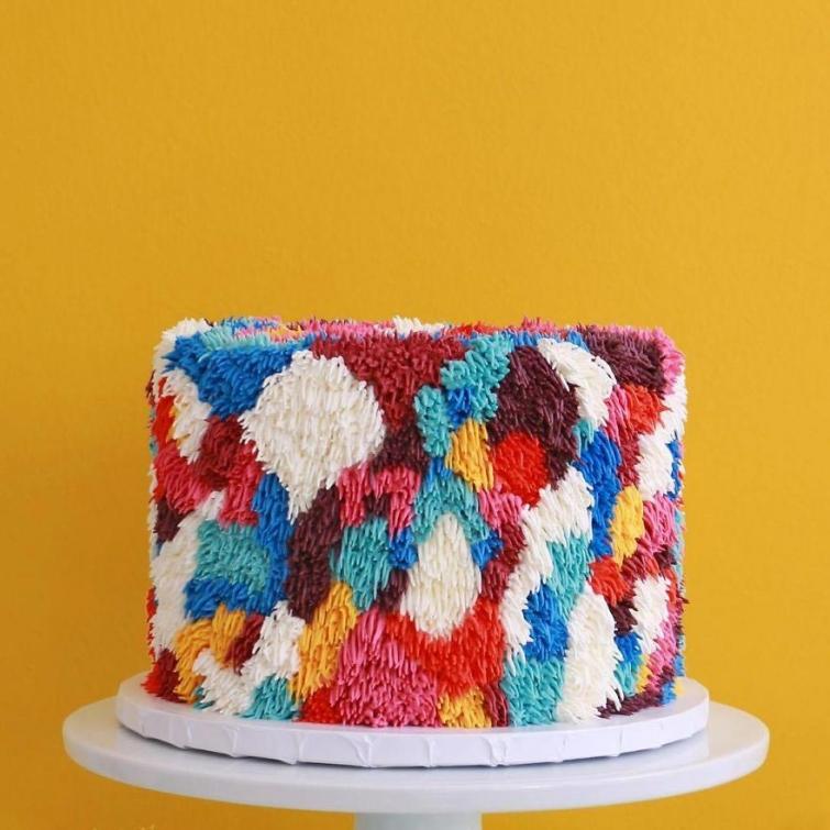 пушистые торты, торты в виде ковриков, торты в виде ковров, стилизованные торты под ковры
