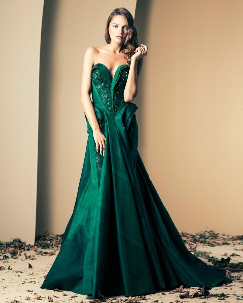 70 красивых изумрудных платьев