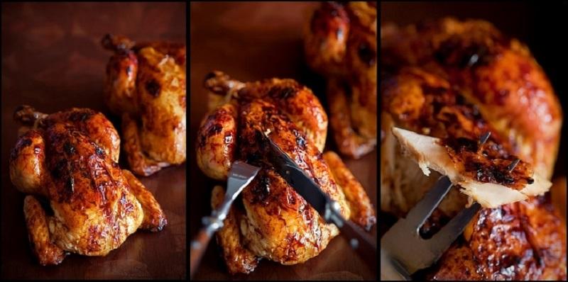 Как жарить курицу в духовке рецепт с