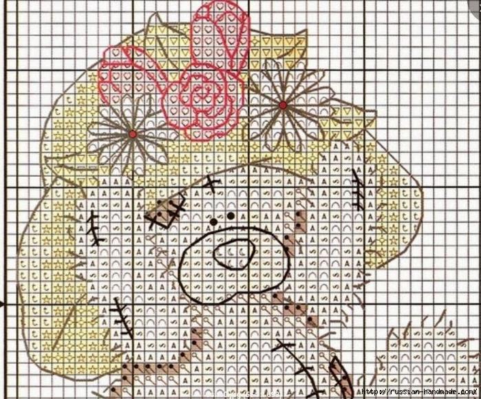 Схемы вышивки крестом мишки тедди свадьба 18