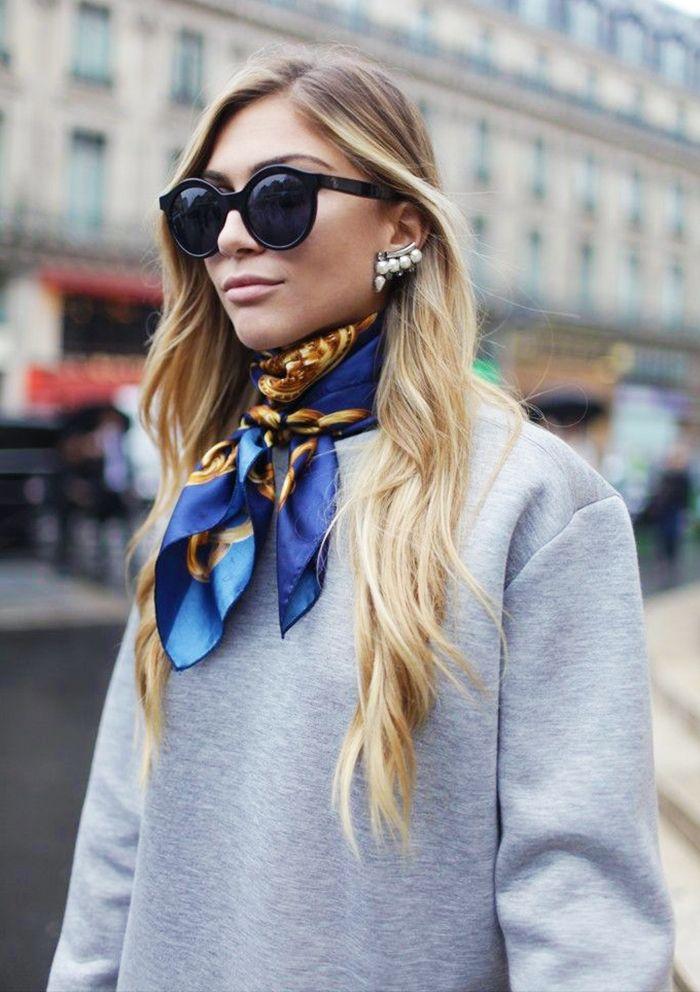 Стильная весна 2017: 5 модных способов завязать платок на шее