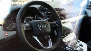 В Сеть попали первые шпионские фото интерьера новой Audi Q8