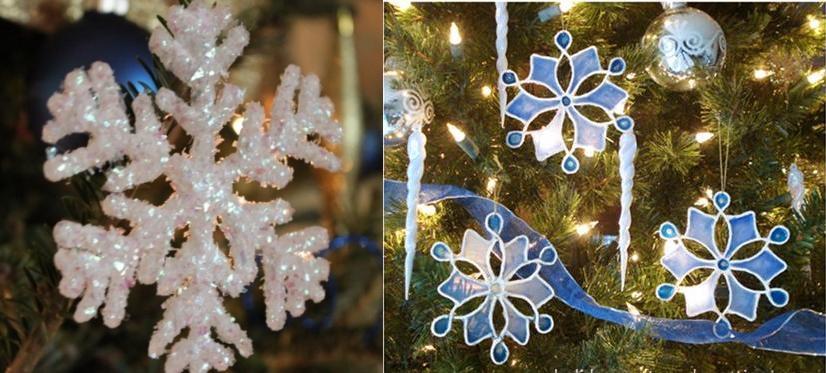 Оригинальные снежинки из клея