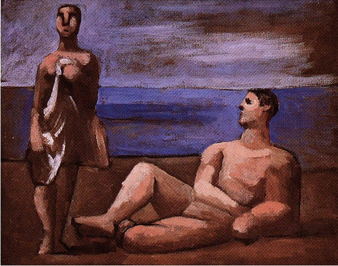 Пабло Пикассо. Два купальщика. 1921 год