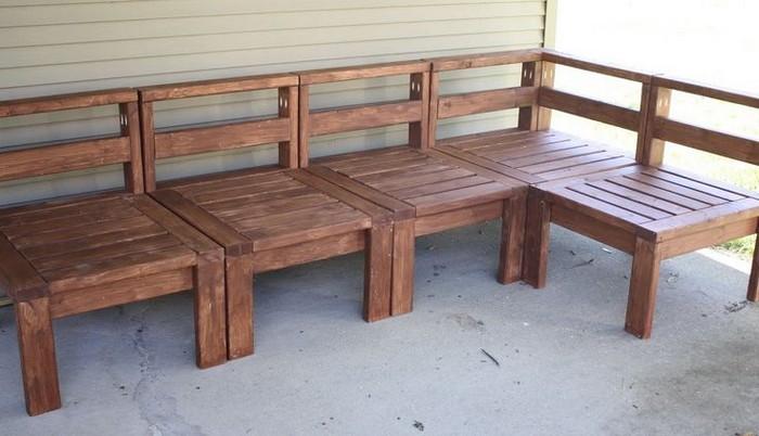 Мебель из дерева для террасы