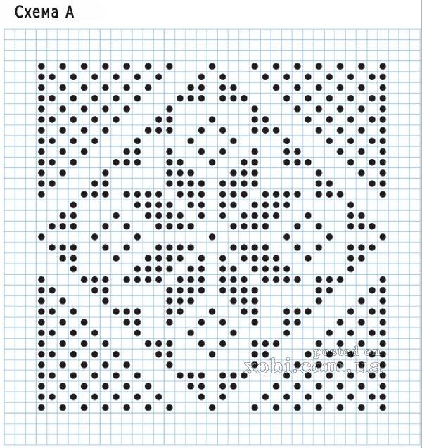 Плед крючком по схеме для вышивки169