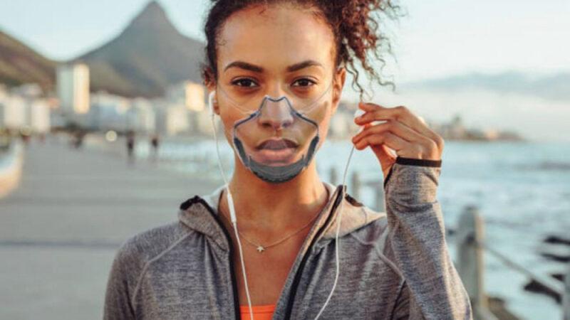 LEAF, первая инновационная прозрачная маска, которая защищает, нескрывая лицо